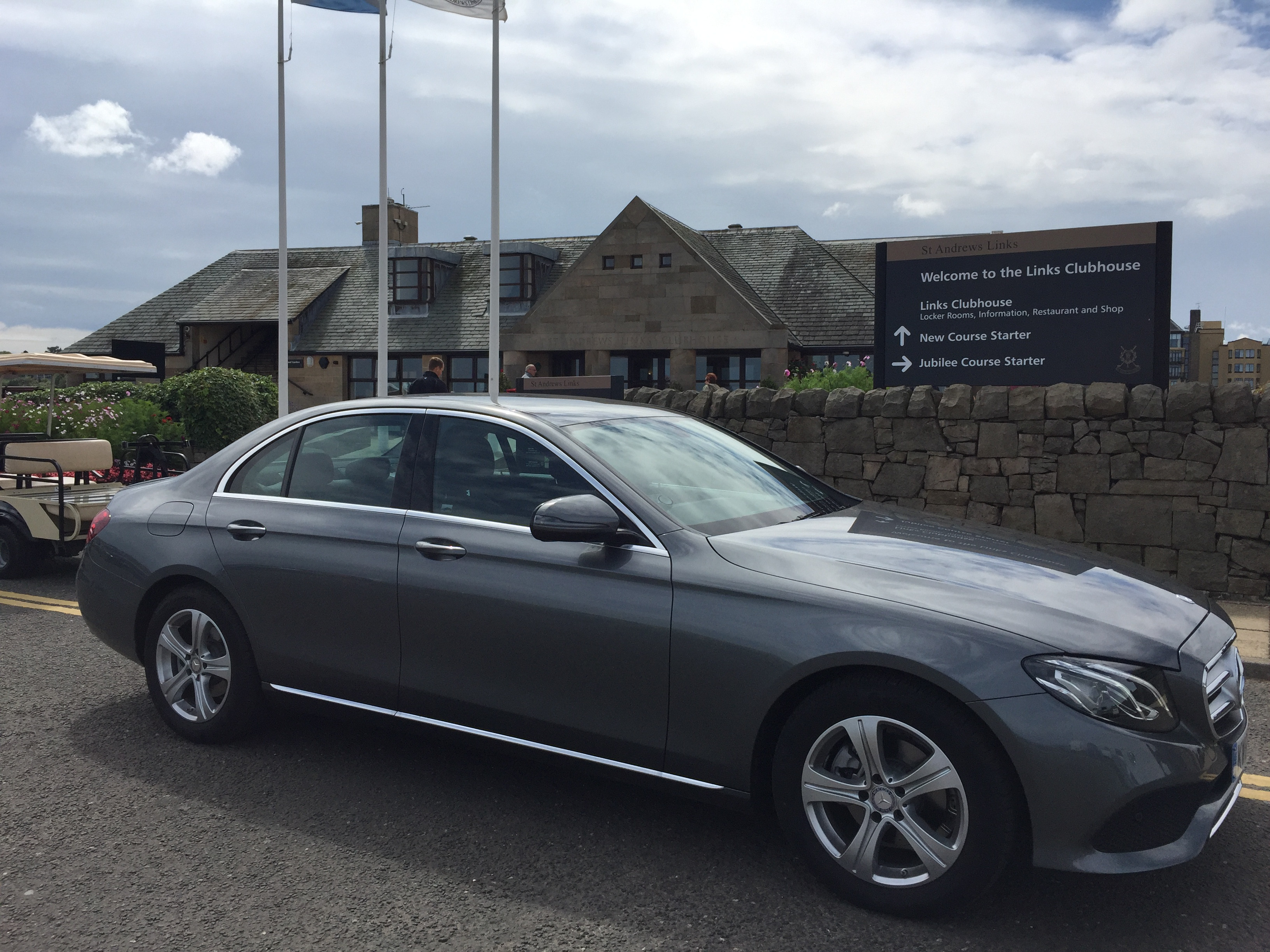 Mercedes E Class St. Andrews New Couse Golf Clubhouse